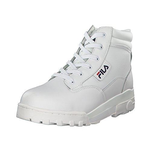 Fila Herren Grunge L Mid High-Top, Weiß (Bright White), 43 EU (Fila-weiß Schuhe)