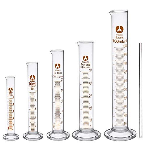 Cococity escala vidrio cilindro cilíndrico escala