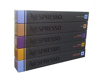 50 Nespresso Variety Mix - DECAF Arpeggio, DECAF Vivalto, DECAF Volluto, Cosi, Vivalto