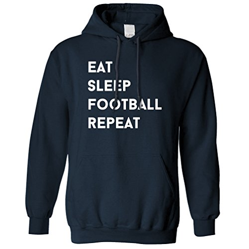 Tim And Ted Eat Sleep Football repeat Hobby Sports Match Profession Football Funny Slogan Skill Ball League World Cup Unisex Hoodie Cool Birthday Gift Present