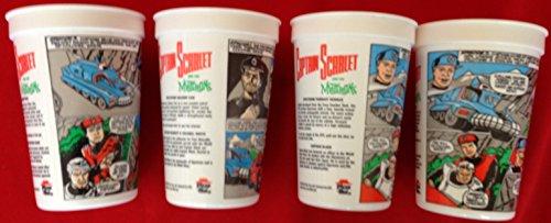 gerry-andersons-vintage-captain-scarlet-set-of-4-pizza-hut-plastic-cups-each-featuring-a-mini-captai