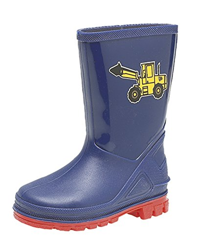Boys Childrens Kids Infants Blue Wellington Wellies Boots Size UK 3 - 10