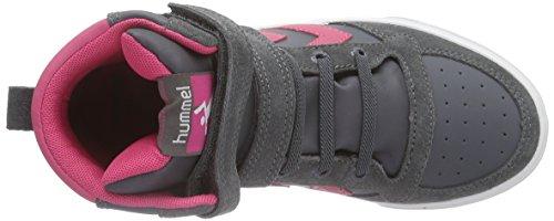hummel SL STADIL ELASTIC Unisex-Kinder Hohe Sneakers Grau (Castle Rock / Honeysuckle 2798)
