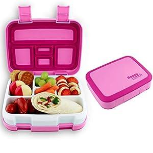 LiCocina® Bento Box I Pink I Kinder Lunchbox I Brotdose 5 Unterteilungen (Fächer) I Spülmaschinengeeignet I Mikrowellengeeignet I BPA Schadstofffrei I Geruchs- und Geschmacksneutral