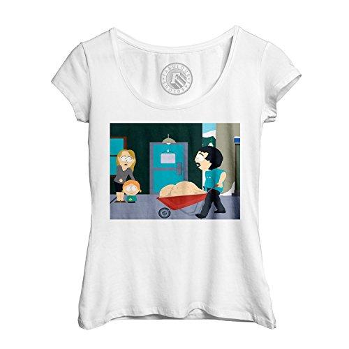 T-shirt Femme Col Rond Echancré south park randy marsh balls couilles