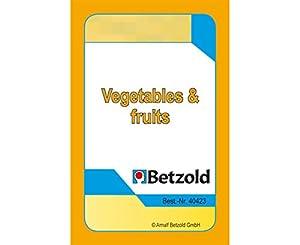 """Betzold - 36 cartas """"verduras y frutas"""", juego de cartas, juegos educativos, en un plástico resistente y robusto"""