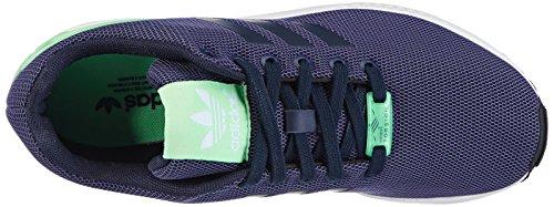 adidas ZX Flux Sneakers a Collo Basso, Donna Blu (Collegiate Navy/Collegiate Navy/Light Flash Green S15)