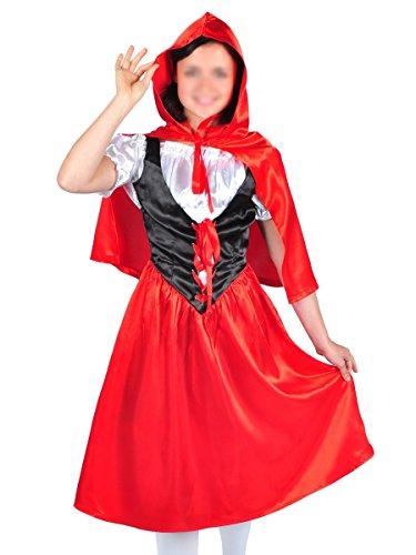 CoolChange Rotkäppchen Kostüm mit Umhang, Größe: L (Red Riding Hood Cape Lange)