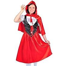 CoolChange Disfraz de Caperucita Roja con capa, talla: M