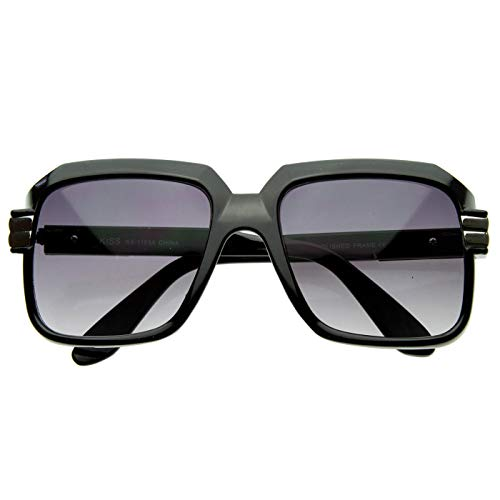Kiss Sonnenbrille OLD SCHOOL mod. RUN-DMC - mann frau HIP-HOP rapper vintage FREESTYLE - SCHWARZ