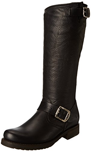Frye Veronica Slouch, Bottes femme Black Soft Vintage Leather-76602