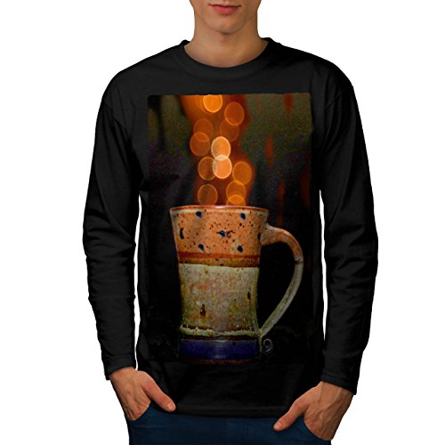 stylish-cup-of-tea-color-bubbles-men-new-black-m-long-sleeve-t-shirt-wellcoda