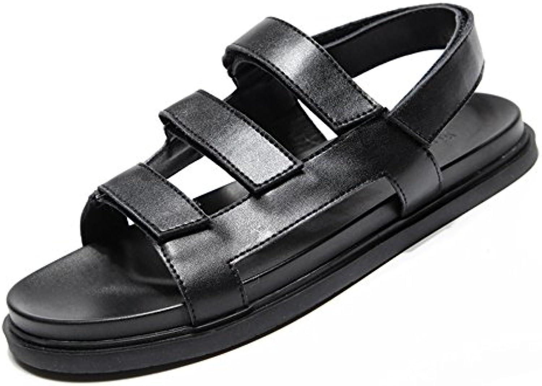FEIFEI Zapatos de los hombres Material de alta calidad negro Moda de verano personalidad antideslizante zapatillas