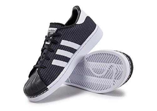 adidas Unisex-Kinder Superstar Sneaker Black (Negbas / Ftwbla / Ftwbla)
