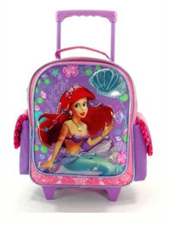 Small Pink Ariel Rolling Backpack - Small Girls Luggage with Wheels