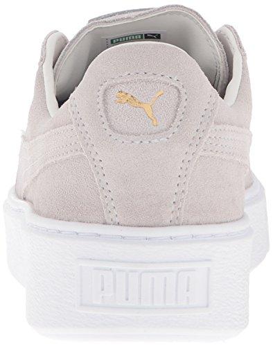 Puma Suede Platform Wildleder Turnschuhe Gold-Star White-Puma White