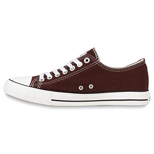 Herren Sneakers | Freizeitschuhe Sportschuhe | Schnürer Stoffschuhe |Fitness Streetstyle | viele Farben Dunkelbraun
