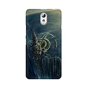 Mobicture City Of Doom Premium Printed High Quality Polycarbonate Hard Back Case Cover for Lenovo Vibe P1M With Edge to Edge Printing