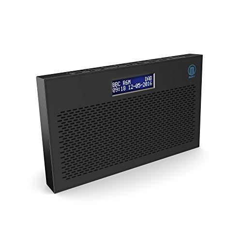 Histon II 2nd edition DAB/DAB+ Digital & FM Portable Radio, Dual Alarm Clock, Battery Portable or Mains Powered (Black)