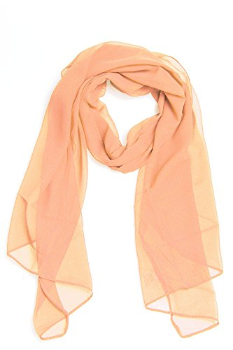 Frühlingsschal Sommerschal Schal Halstuch Unifarben (einfarbig) für Frühling und Sommer 100% Viskose (hellachs)