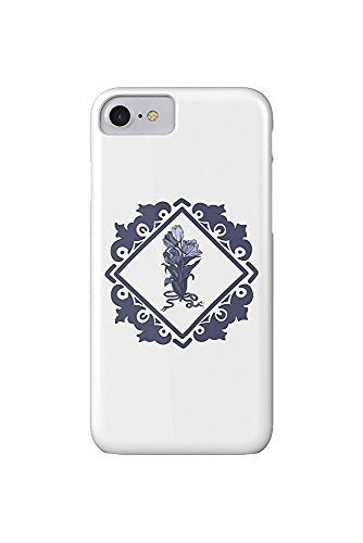 Delft Tulips and Border (iPhone 7 Cell Phone Case, Slim Barely There) - Delft Tulips