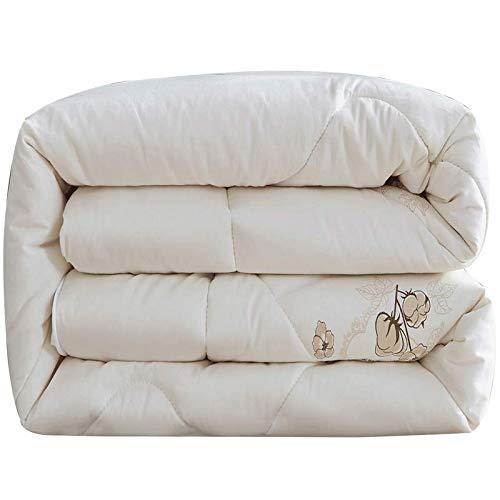 YAJAN-Duvet Bettdecken Baumwolldecken Hochwertige Steppdecken 100% Baumwolle Continental Winterdecken Verdicken warme antibakterielle weiche leichte Bettwaren