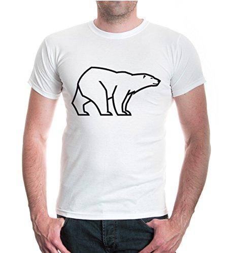 buXsbaum® T-Shirt Ursus Maritimus White-Black