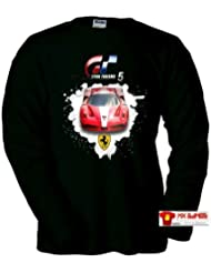 Camiseta Gran Turismo 5 Ferrari Art (Talla: Talla M Unisex Ancho/Largo [53cm/72cm] Aprox])