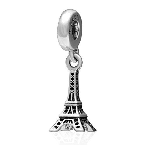 Eiffelturm baumeln 925 Sterling Silber Charm Travel Paris Anhänger Charme für europäische Armband (Eiffelturm Charme Von Pandora)