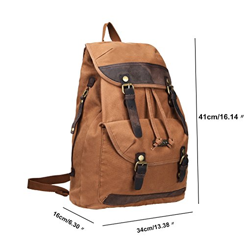 Imagen de fafada de hombre retro bolsa de lona  al aire libre viajes  escalada impermeable, canela marrón  44020424 alternativa
