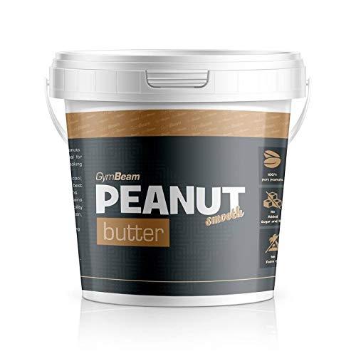 Gymbeam | 100% di burro di arachidi - 1000 gr - smooth | fonte naturale di proteine | innamoratevi di un burro delizioso e puramente naturale | senza additivi chimici