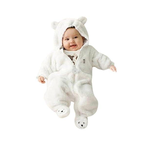 Amlaiworld Mono Bebé, Recién Nacido niño niña con Capucha Mono Otoño Invierno Oso Mameluco Ropa 0-9 Mes 1