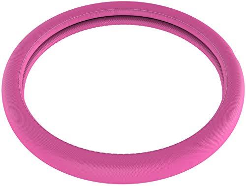 Upgrade4cars coprivolante auto universale rosa in simil-pelle   diametro 37-39 cm   accessori auto interno   regali per donna e uomo