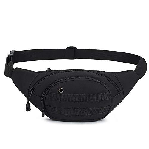 GIRLAA tasche mimetiche per esterno da corsa sport tasche moda casual cellulare borsa tattica borsa impermeabile in nylon 125# nero 36x18x14cm