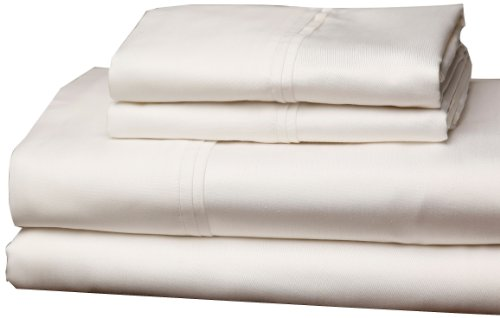 textilien flach Spannbettlaken Twin Kissen Case, baumwolle, Soothing Ivory, California King (Bettwäsche Full Extra Lange)