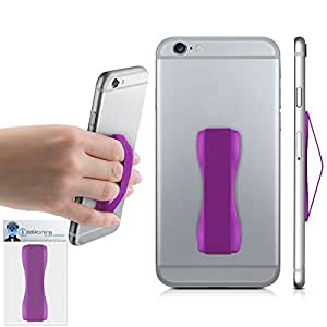 Purple Case Compatible Anti-Static Finger Elastic Grip Holder with Strong Adhesive For Sony Xperia M2 Aqua