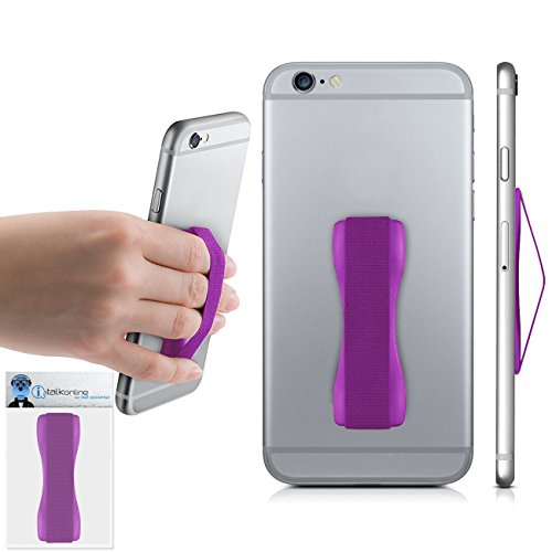 Purple Case Compatible Anti-Static Finger Elastic Grip Holder with Strong Adhesive For Nokia Asha 210  available at amazon for Rs.237