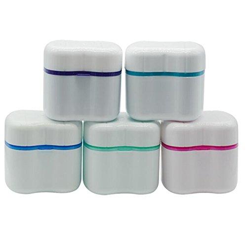 Huertuer Box für Zahnprothesen Zähne Spülen Korb Container Bad Appliance die Lagerung Fall (zufällige) (Möbel Lagerung Körbe)