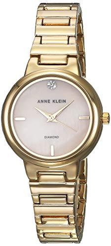 Anne Klein Reloj de Mujer Cuarzo Correa y Caja de Acero Dorado AK/2440PMGB