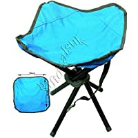 DNY© 4 LEGS STRONG CHAIR SEAT FOLDING CAMPING STOOL PORTABLE HIKING FISHING BBQ COLOURS AVAILABLE 5
