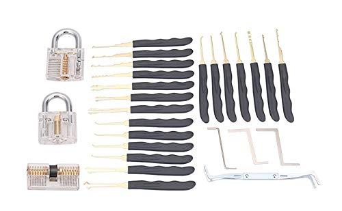 Kit de Crochetage Serrure LockPicking 24 Pi/èces 7 Serrures ASEL Outils D/'entra/înement Transparents Cadenas Pour sentra/îner de Serrurier