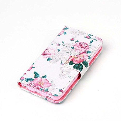 Apple iPhone 5C Etui Cuir - Camiter Lettres de Smile PU Cuir Coque Case Etui Coque étui de portefeuille protection Coque Case Cas Cuir Pour Apple iPhone 5C + Chiffon de nettoyage gratuit pivoine