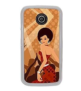Fiobs Designer Back Case Cover for Motorola Moto E3 :: Motorola Moto E (3rd Gen) (Fashion Girl Garly Ladki)
