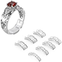 Ajustador invisible del tamaño del anillo para los anillos flojos - anillo protector, anillo clasificador, 7 tamaños aptos para el anillo del hombre y de la mujer