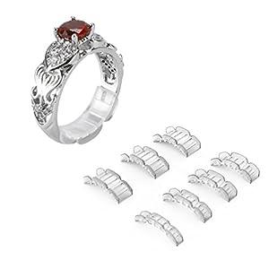 Invisible Ring Size Adjuster für lose Ringe – Ring Guard, Ring Sizer, 7 Größen passen für Mann und Frau Ring