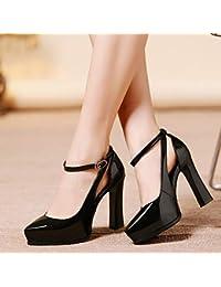 Yukun zapatos de tacón alto Sandalias De Tacón Alto Con Un Solo Botón 2de215adf481