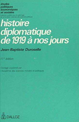 Histoire diplomatique de 1919 à nos jours