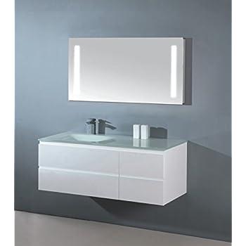 luxus badezimmerm bel badm bel bestehend aus unterschrank waschtisch aus glas und led spiegel. Black Bedroom Furniture Sets. Home Design Ideas