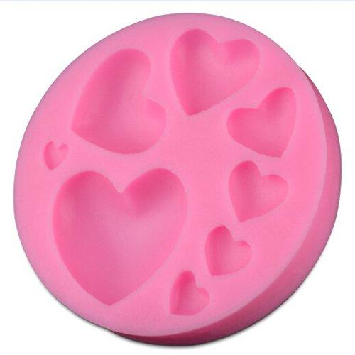 YOKIRIN® Stampi in Silicone Formi di LOVE Heart Accessorio per la Decorazione Della Torta del Fondente di Cioccolato Stampo Zucchero Torte Stampi Sapone