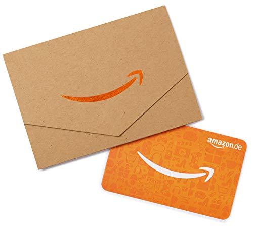 Amazon.de Geschenkkarte in Geschenkkuvert - 40 EUR (Karton & Orange)